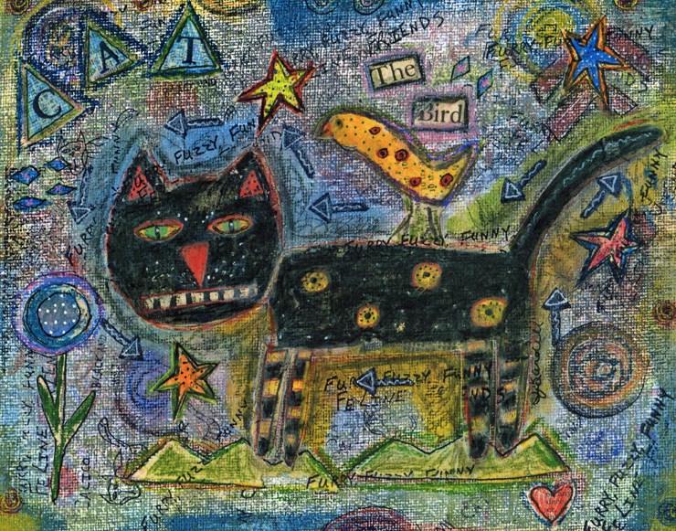 """Funny Feline"" original fine art by Sonja Sandell"