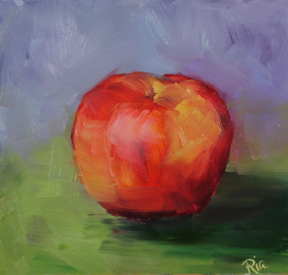 """Sweet & Crisp"" original fine art by Maria Reed"