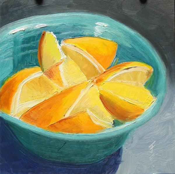 """""""Orange Challenge"""" original fine art by Jane Frederick"""
