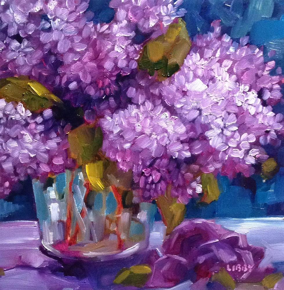 """Love of Lilacs"" original fine art by Libby Anderson"