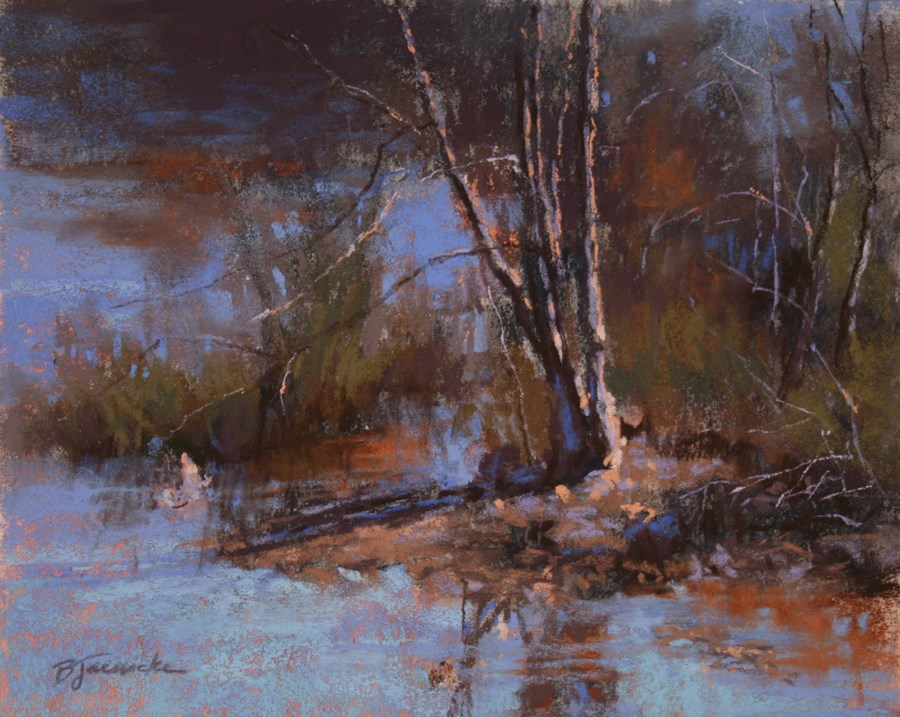 """A Quiet Little Spot"" original fine art by Barbara Jaenicke"