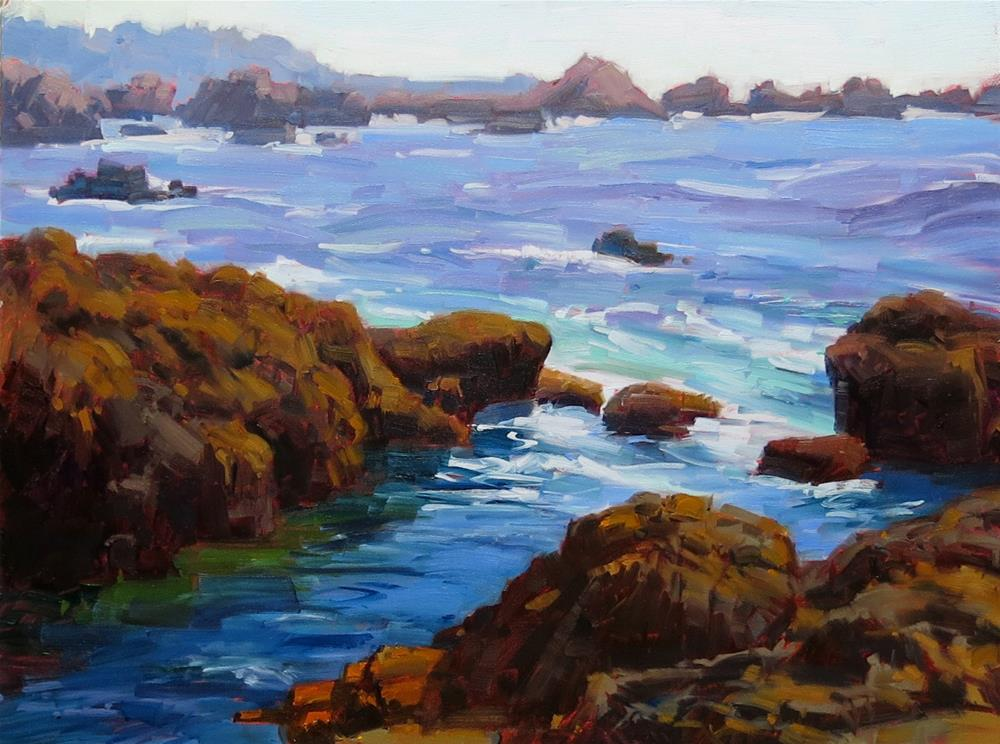 """POINT LOBOS CHINA COVE"" original fine art by James Coulter"