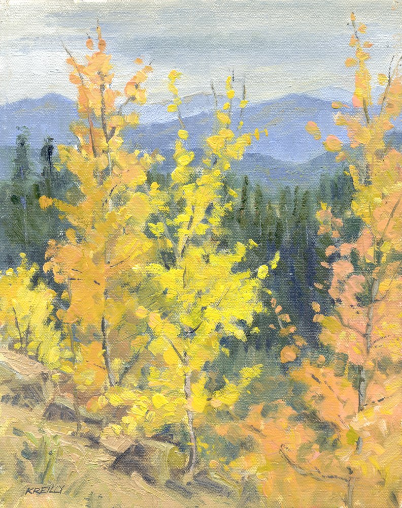 """Roadside Color"" original fine art by Kath Reilly"