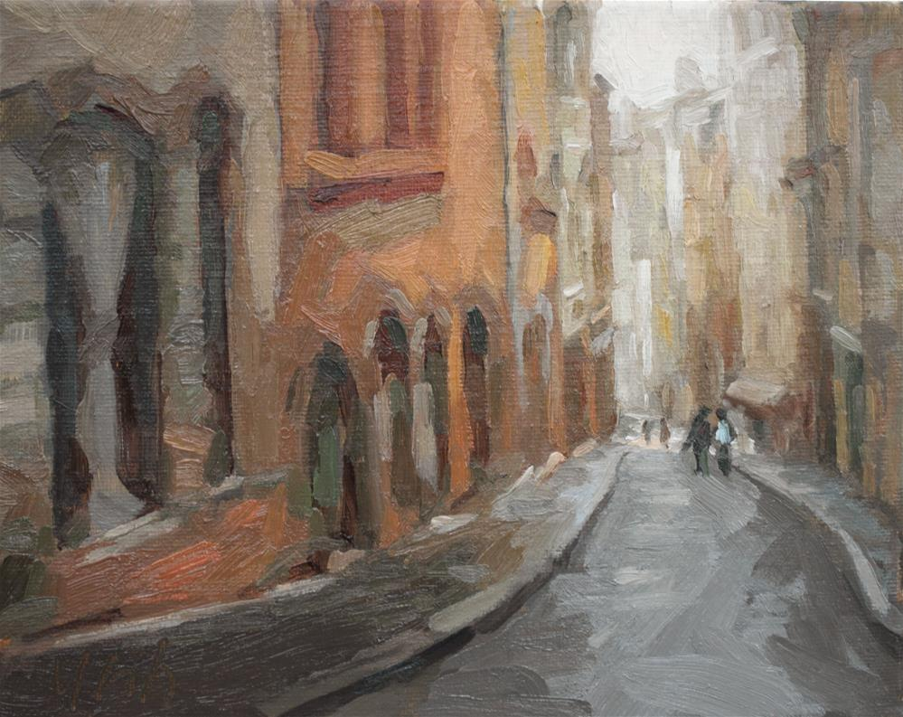 """Lyon"" original fine art by Yuehua He"