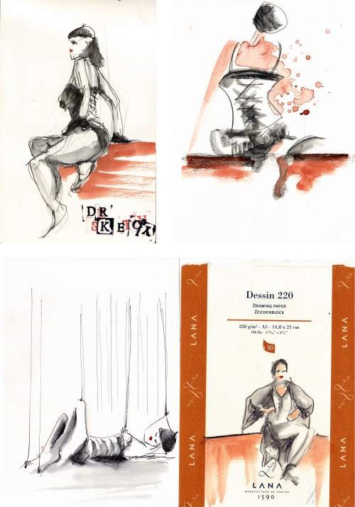 """1671 Dr. Sketchy's Agent"" original fine art by Dietmar Stiller"