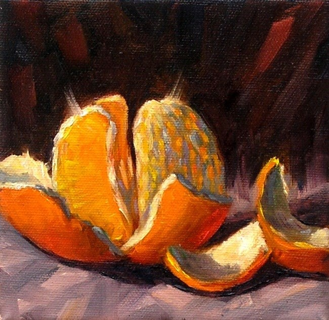 """Orange"" original fine art by Irina Beskina"