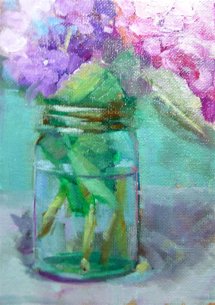 """Hydrangeas"" original fine art by Carol Josefiak"