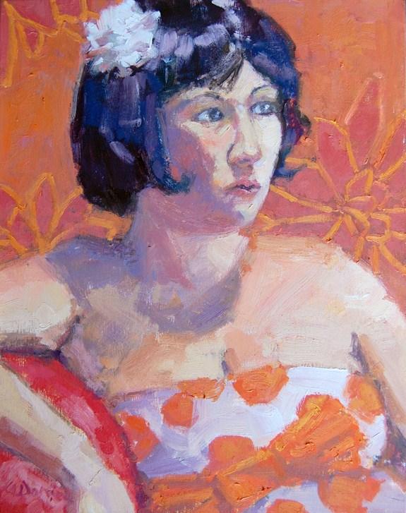 """Portrait in Orange"" original fine art by Andrew Daniel"
