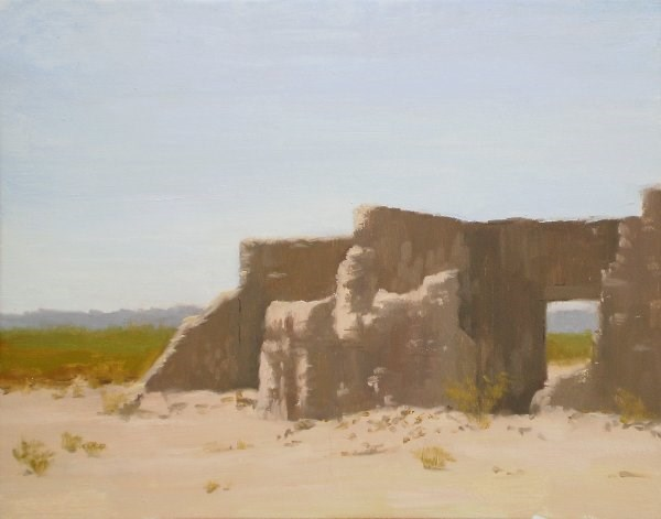 """Slaughterhouse Ruins Near Presidio"" original fine art by Weston Hobdy"