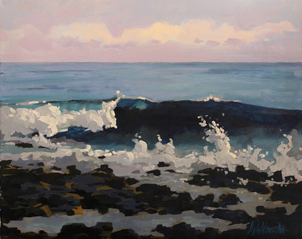 """Little Cayman Wave"" original fine art by Kyle Nitzsche"