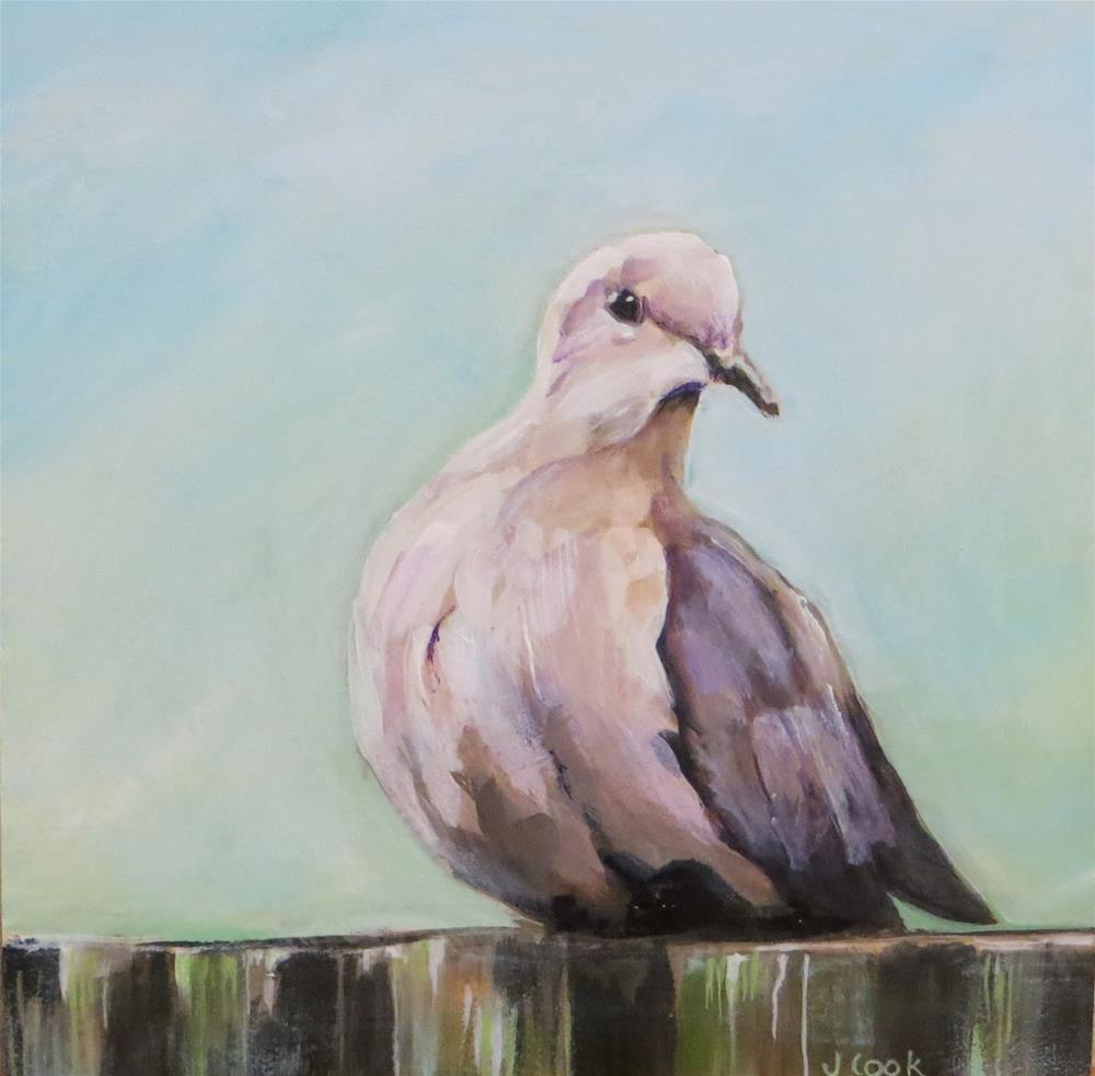 """Birdie 2"" original fine art by Janice Cook"