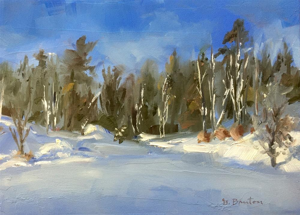 """Snowy Forest"" original fine art by Gary Bruton"