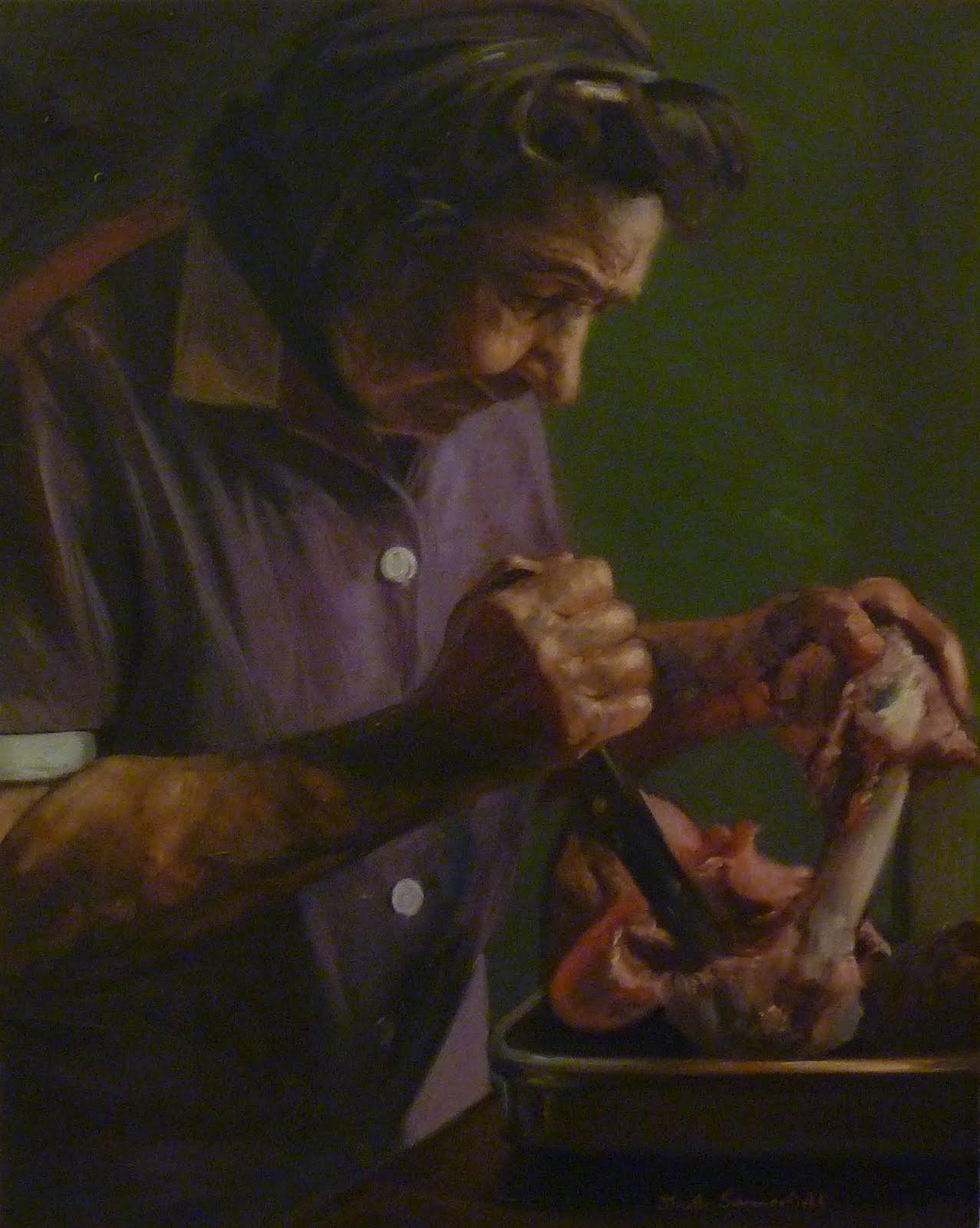 """""""Meat Hooks"""" original fine art by Jonelle Summerfield"""