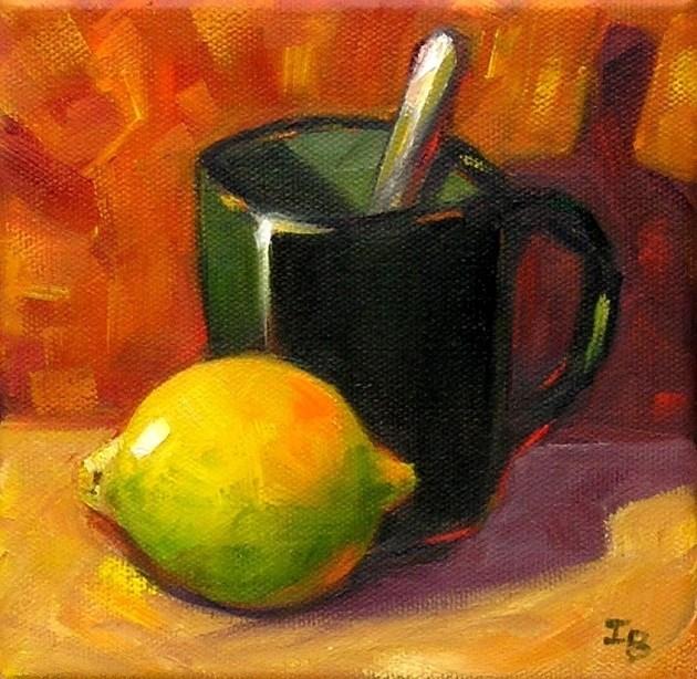 """Just a Lemon"" original fine art by Irina Beskina"