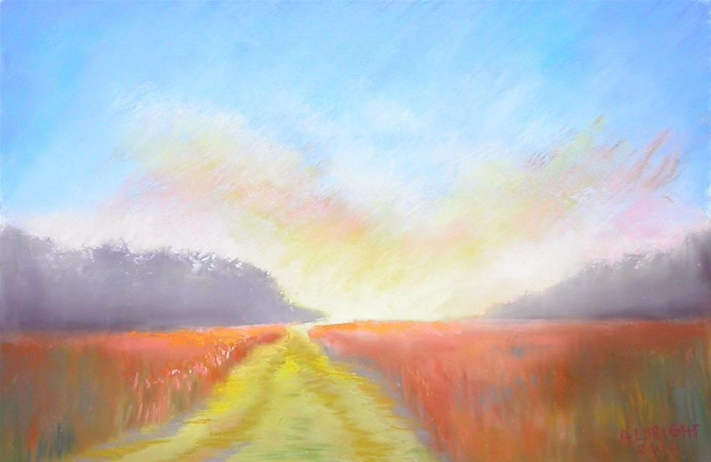 """Country Road"" original fine art by Judy Albright"