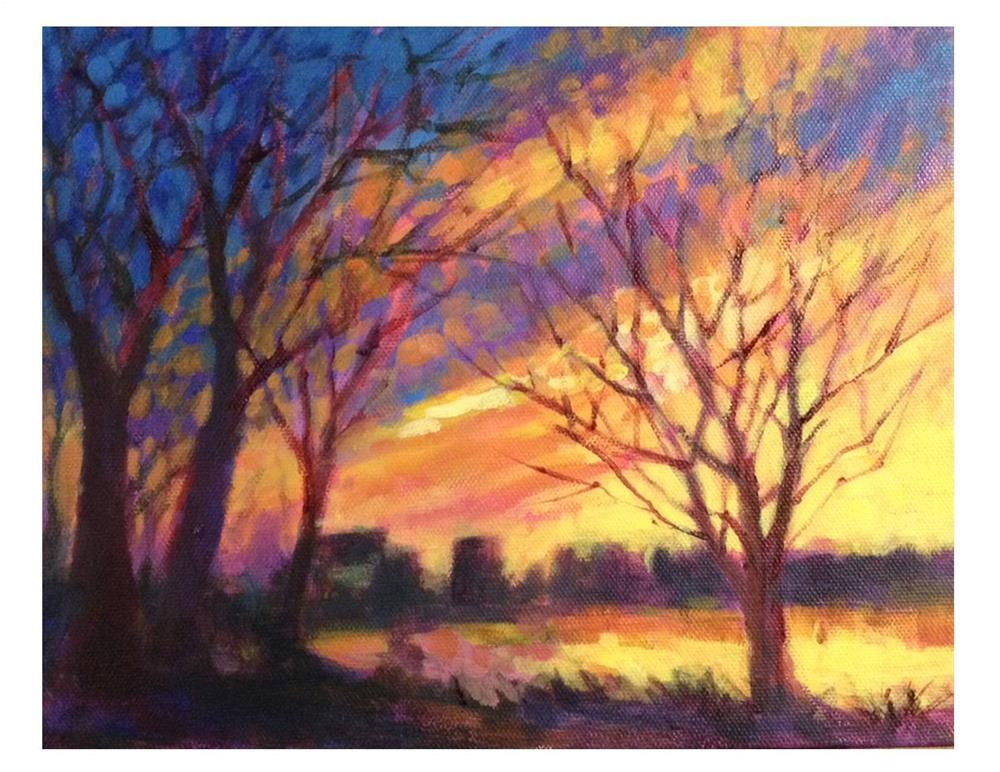 """Sunset Blaze"" original fine art by Suzanne Woodward"