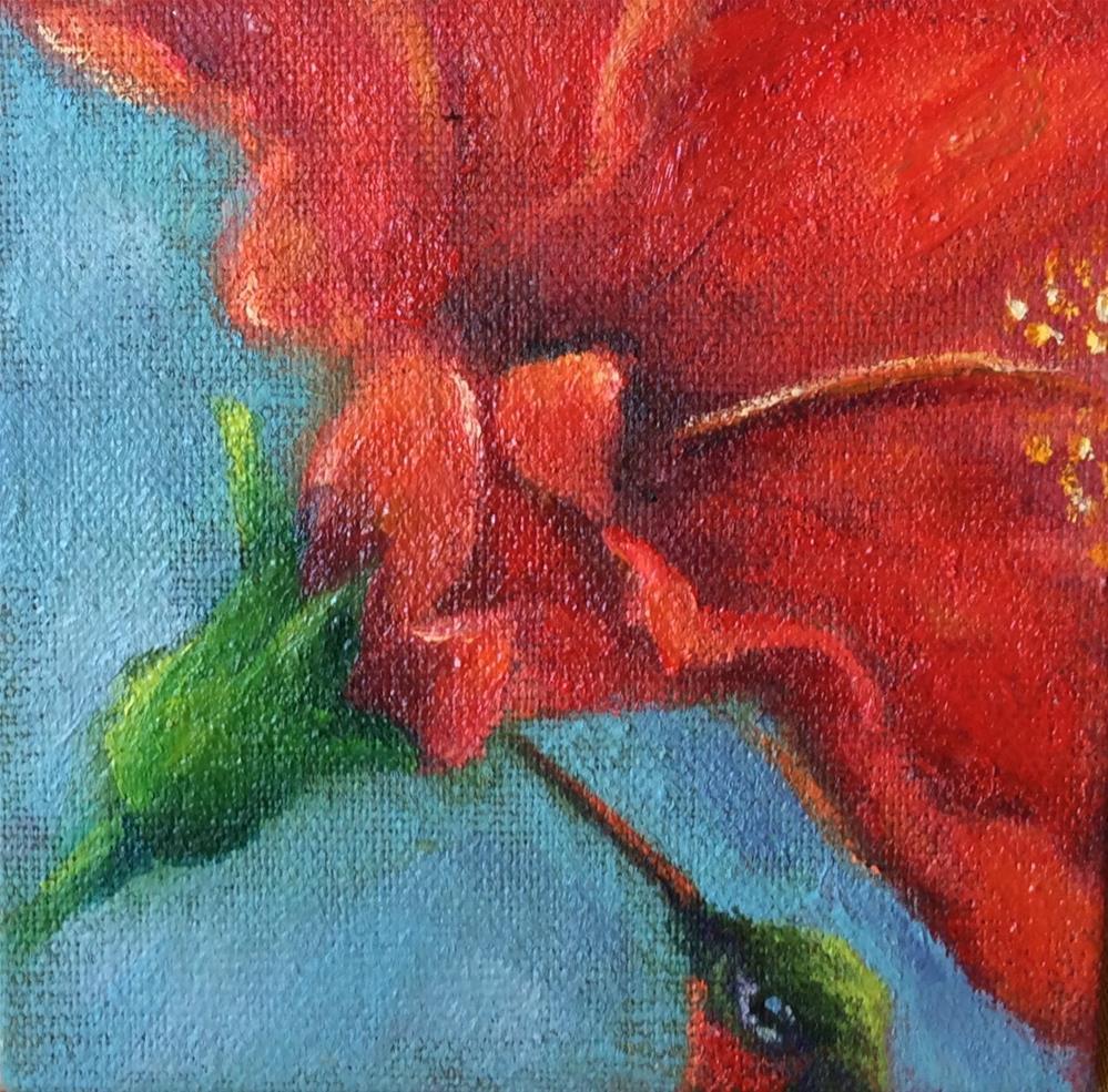 """""""trumpeter"""" original fine art by Susie Monzingo"""