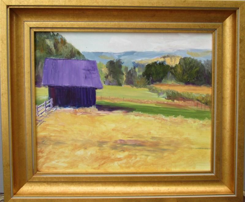"""Pasture Barn II"" original fine art by Norm Rossignol"