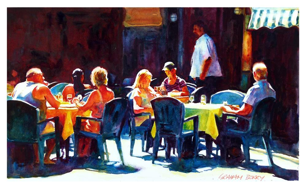 """Sunny tables."" original fine art by Graham Berry"