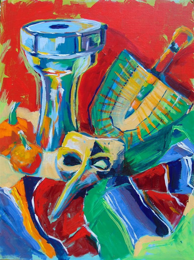 """Mardi Gras"" original fine art by Catherine Kauffman"