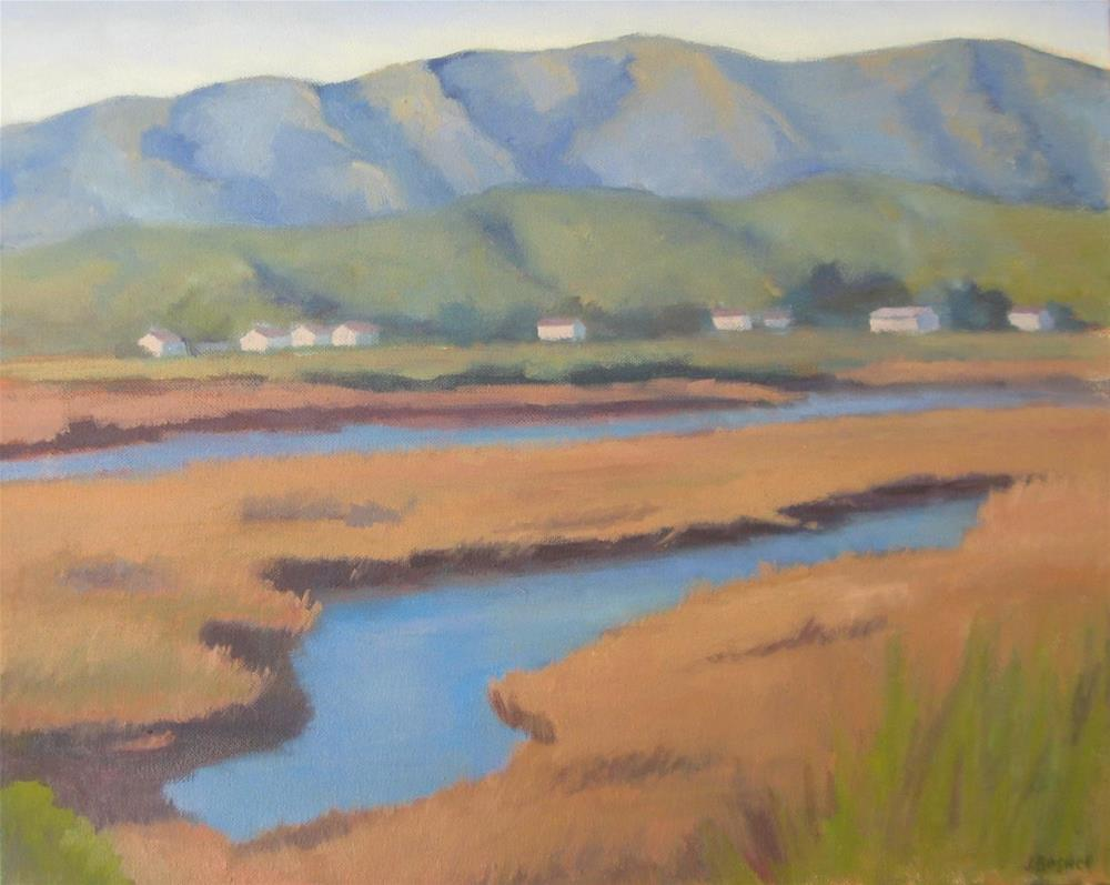 """Carpinteria Salt Marsh Series 3"" original fine art by Jennifer Boswell"