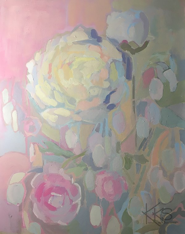 """Money Plant"" original fine art by Kimberly Santini"