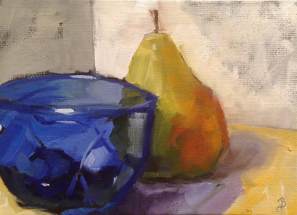 """Bluest Bowl"" original fine art by Philla Barkhorn"