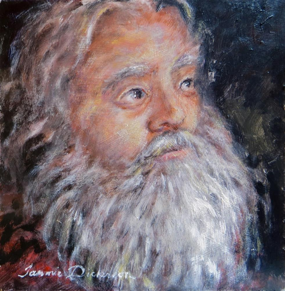 """Old Saint Nick"" original fine art by Tammie Dickerson"