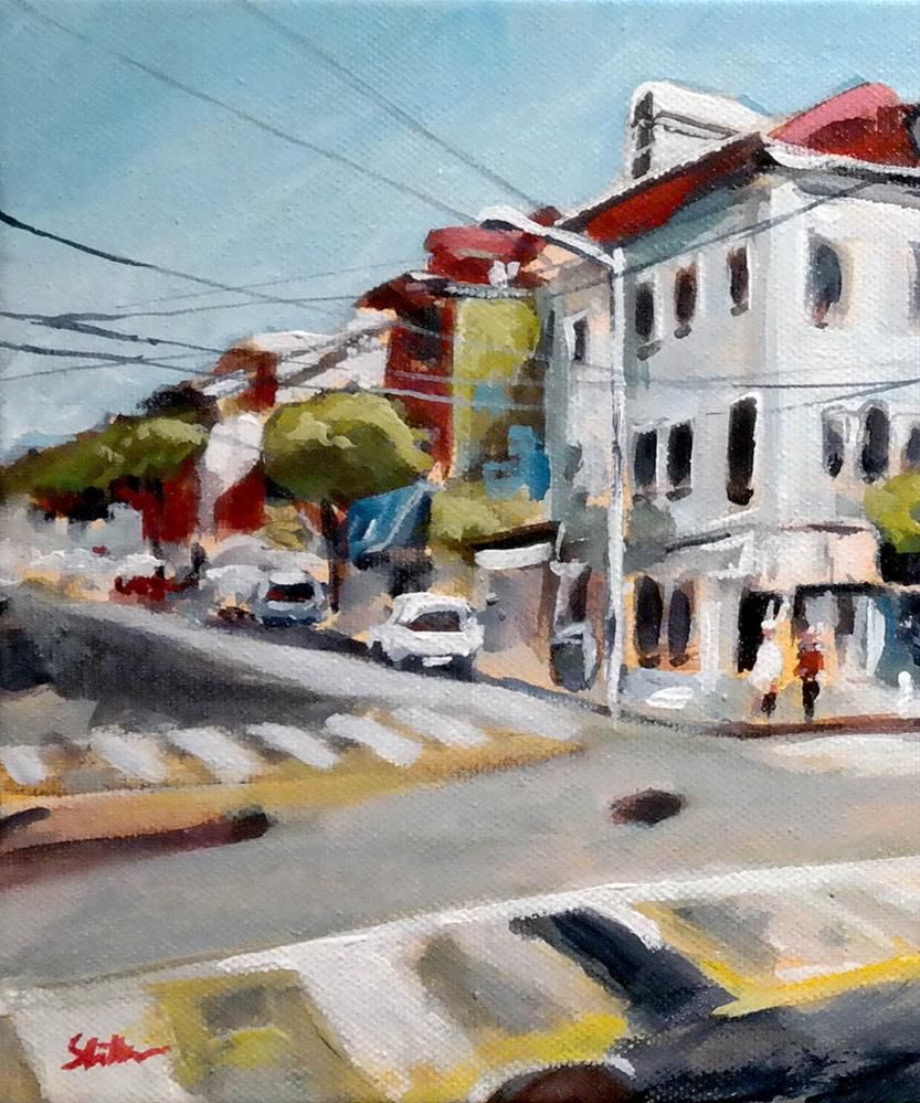 """1325 Ashbury left"" original fine art by Dietmar Stiller"