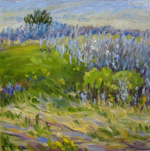 """Unmade Beds And Buttercups"" original fine art by Nicki Ault"