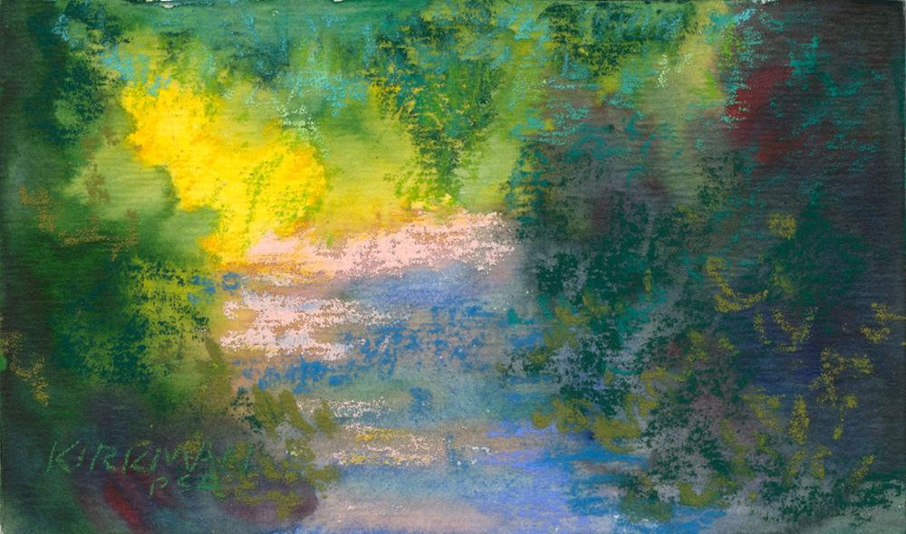 """Park Trail #17"" original fine art by Rita Kirkman"