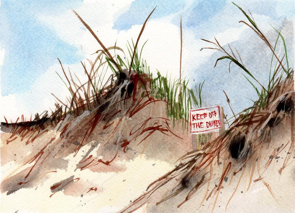 """Keep Off the Dunes"" original fine art by Linda Lowery"