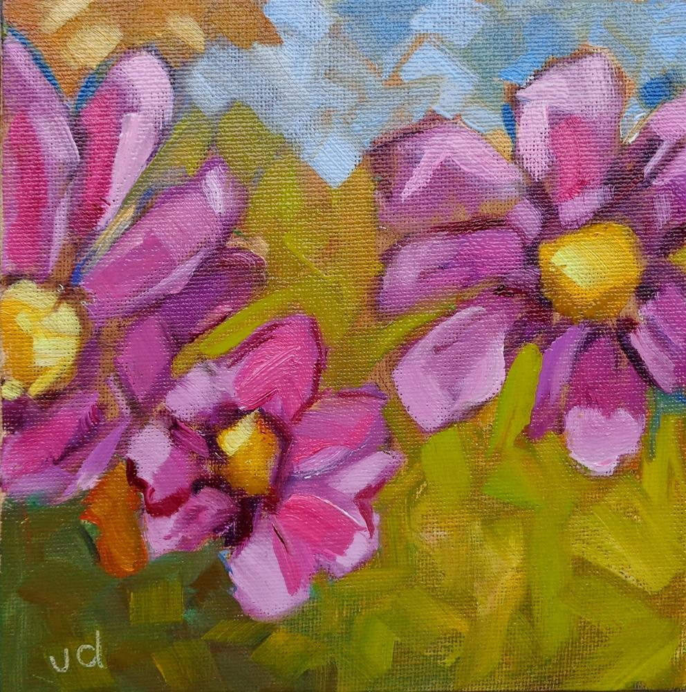 """Triple beauty"" original fine art by Jean Delaney"
