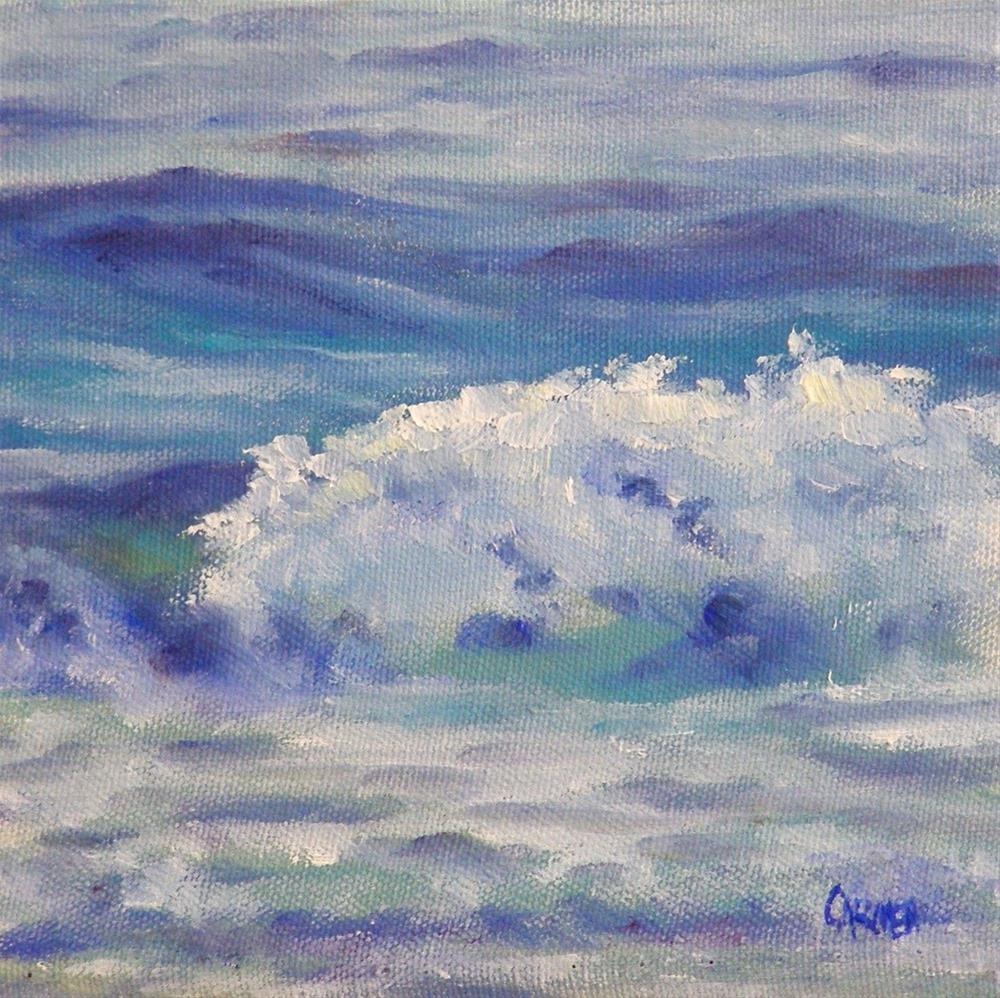 """Near the Shore, 6x6 Oil Painting"" original fine art by Carmen Beecher"