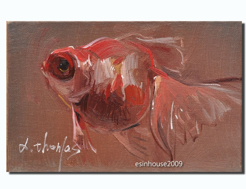 """goldfish"" original fine art by Thomas Xie"