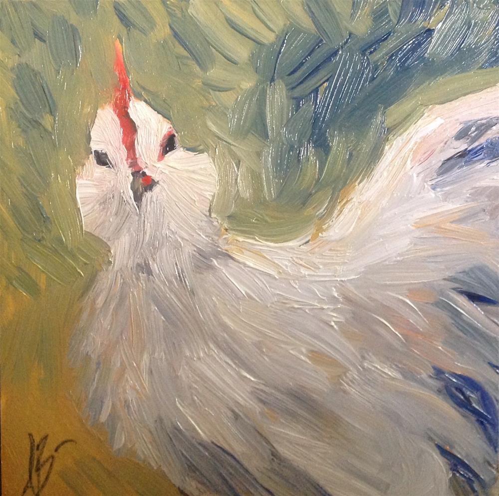 """Hen"" original fine art by Annette Balesteri"