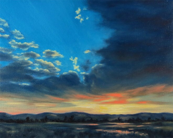 """Morning Spectacular"" original fine art by Carol Zirkle"