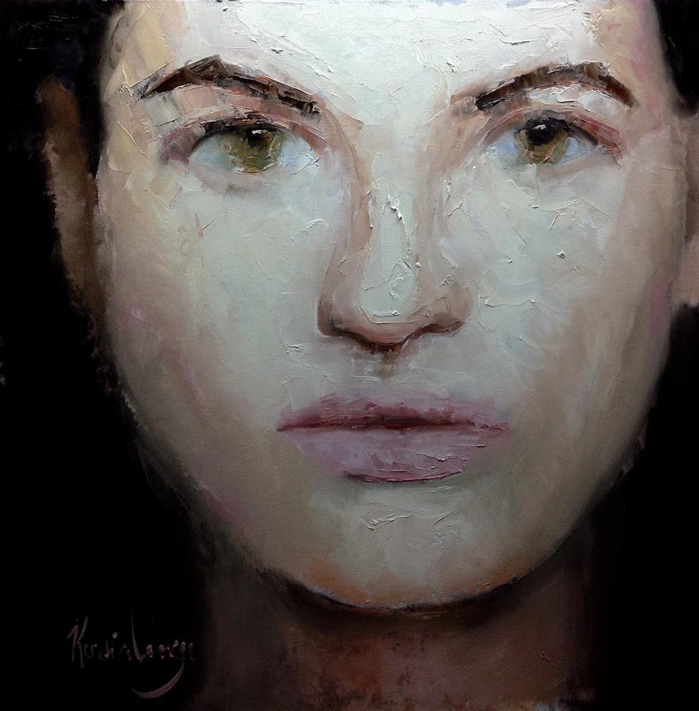 """Portrait study"" original fine art by Rentia Coetzee"