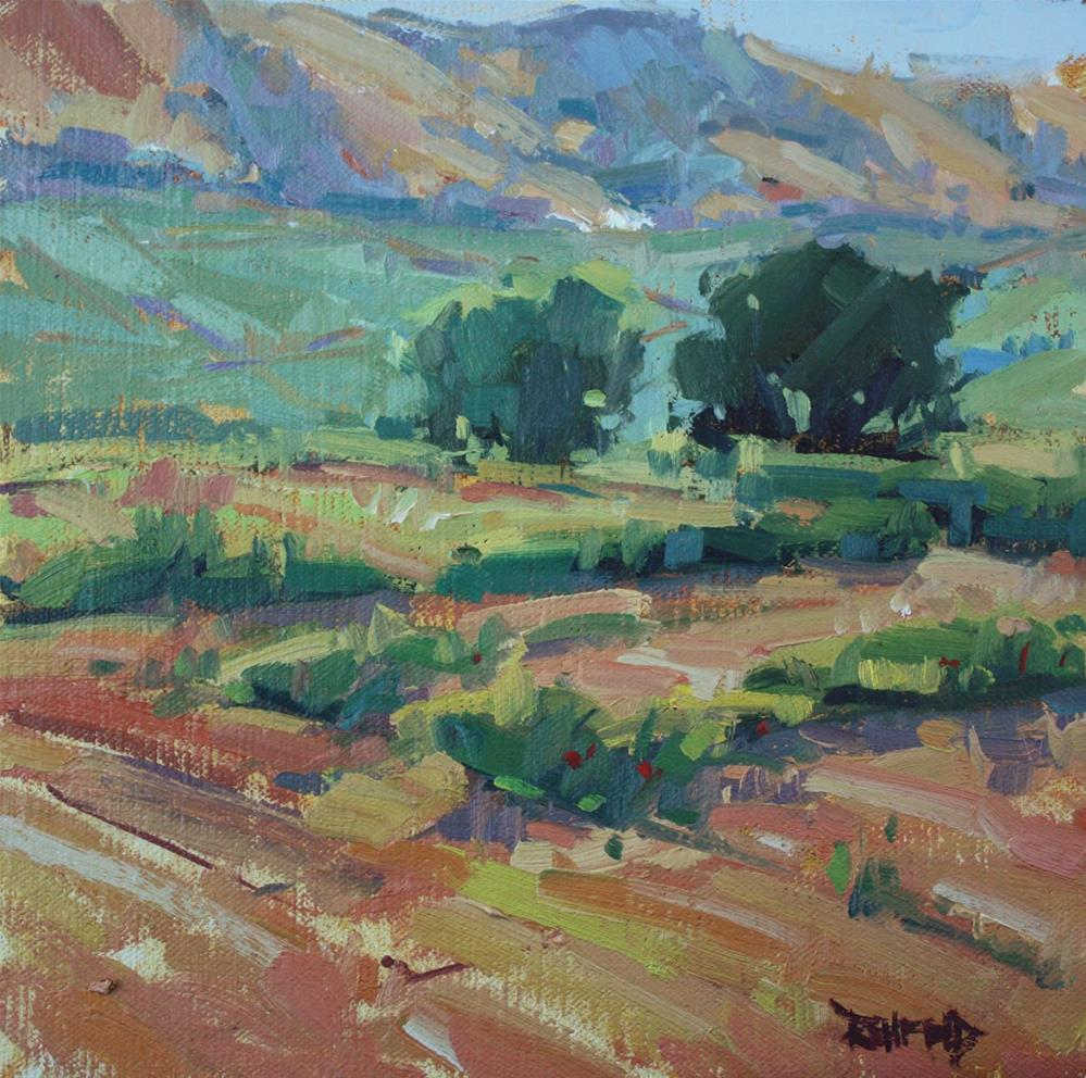 """Plein Air - East Hills of Hood River"" original fine art by Cathleen Rehfeld"