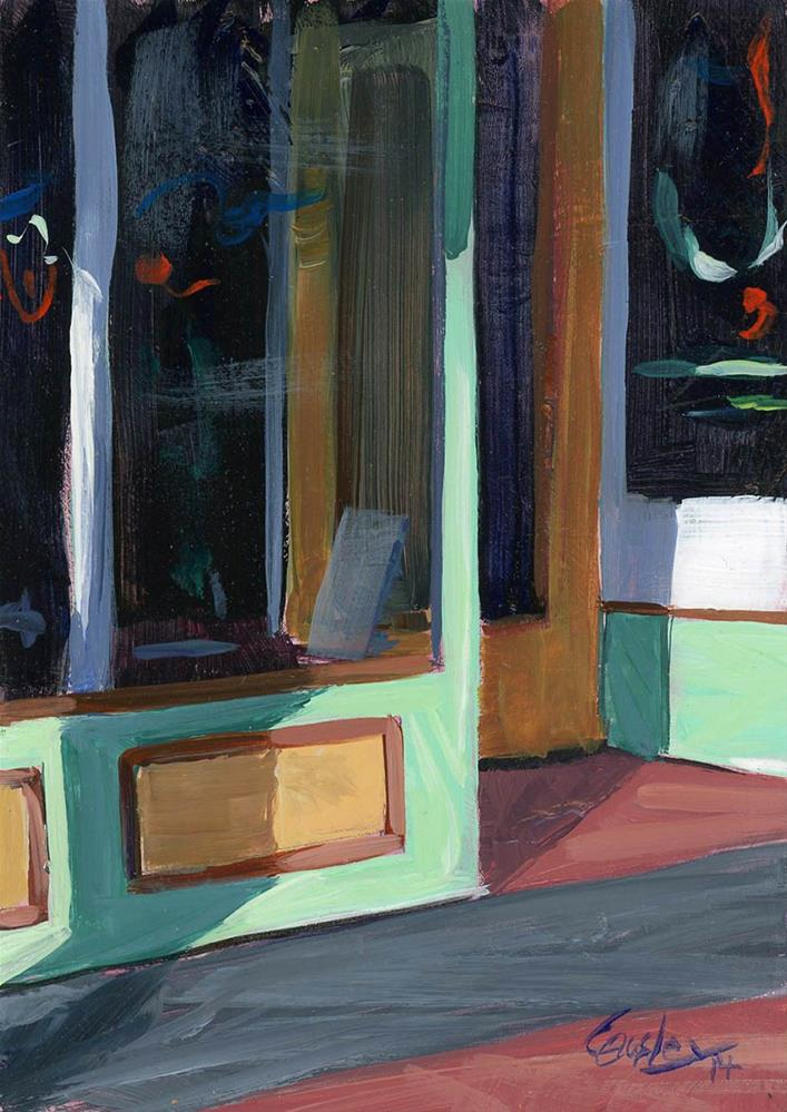 """""""Shopfront (Mike's Ice Cream in Nashville)"""" original fine art by Chris Ousley"""