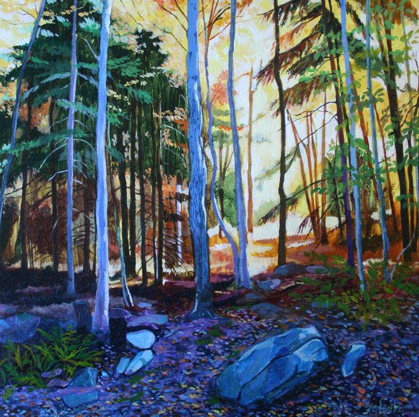 """Nightfall"" original fine art by Setsuko Lawson"