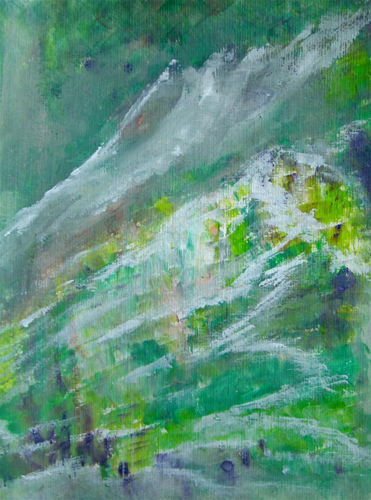 """Mountains Landscape Painting"" original fine art by Alina Frent"