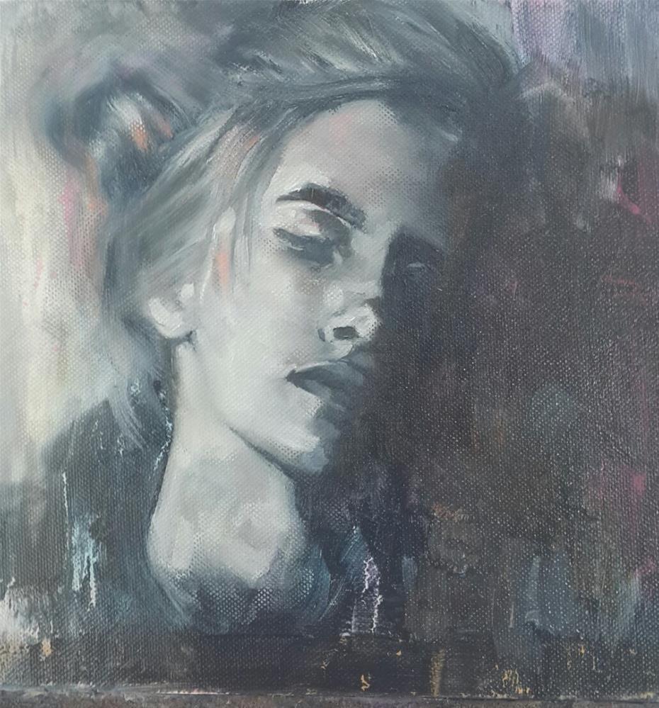 """5 Shades of grey"" original fine art by Rentia Coetzee"
