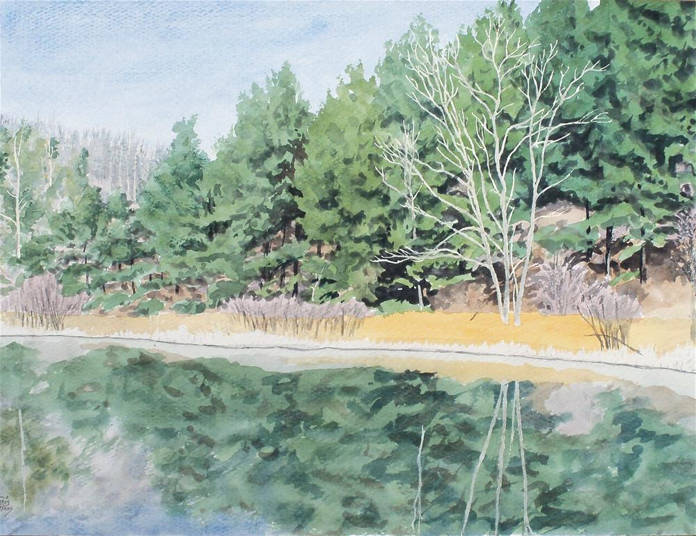 """Woodland Pond I"" original fine art by Greg Arens"
