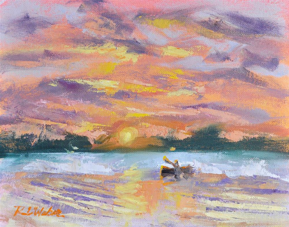 """Labor Day Sunset"" original fine art by Rl Weber"