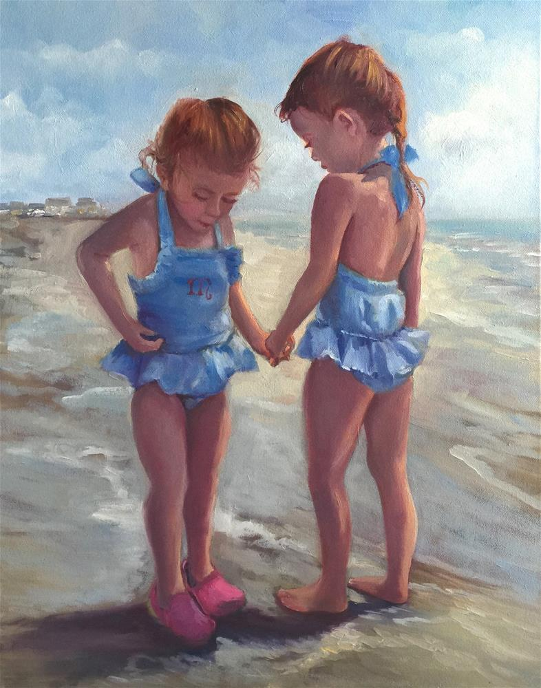 """Ruby and Mabel"" original fine art by Linda Dunbar"