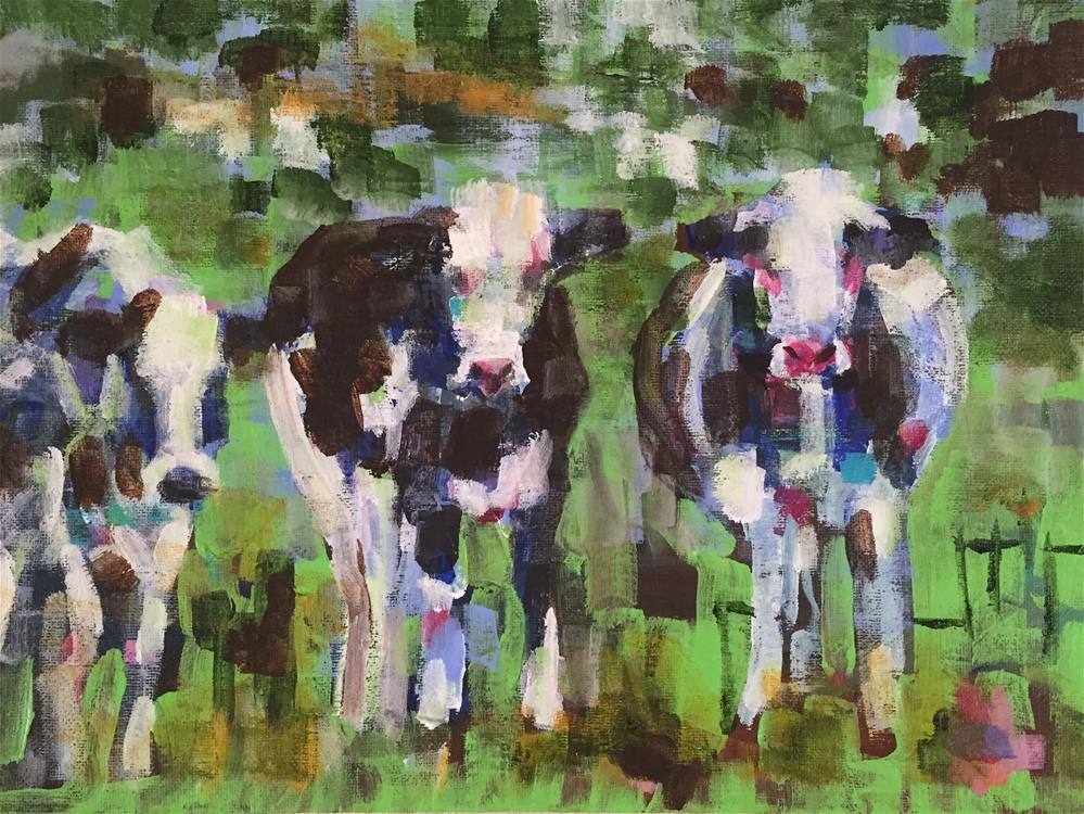 """Who Called This Meeting?"" original fine art by Molly Wright"