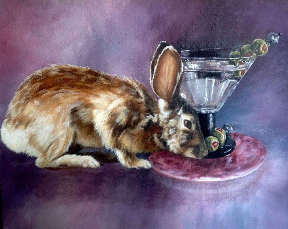 """A Nip and a Nibble (c) by Joye DeGoede"" original fine art by Joye DeGoede"