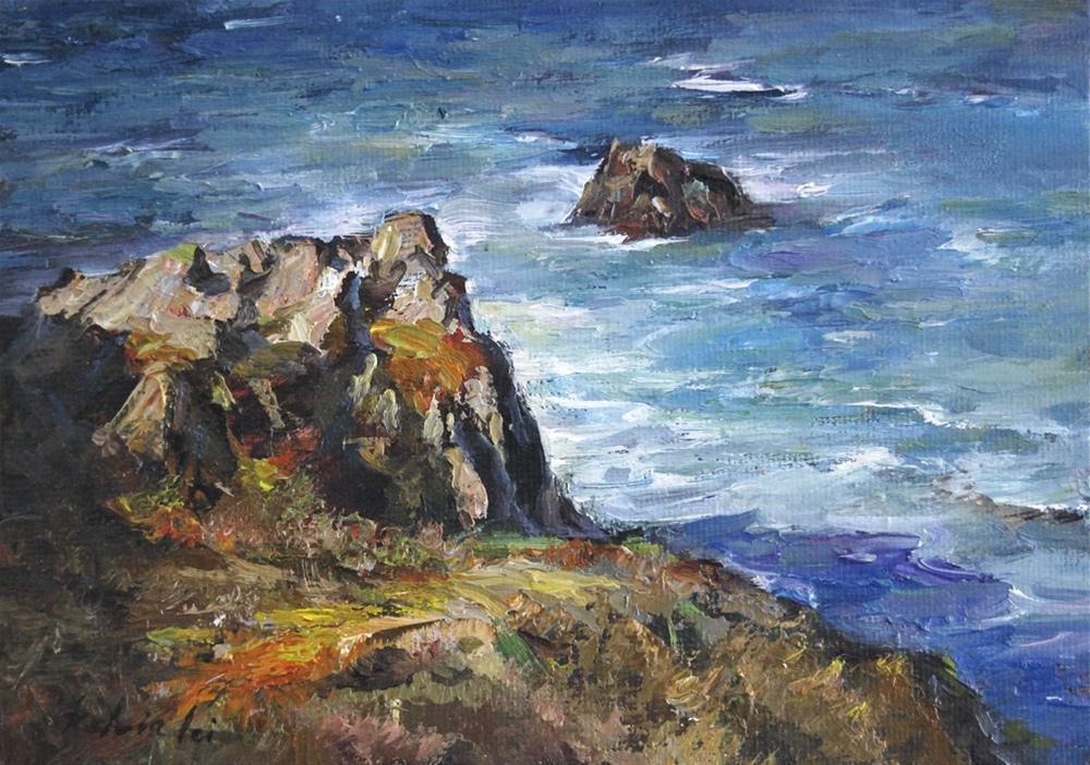 Seaside Retreat original fine art by Kelvin Lei