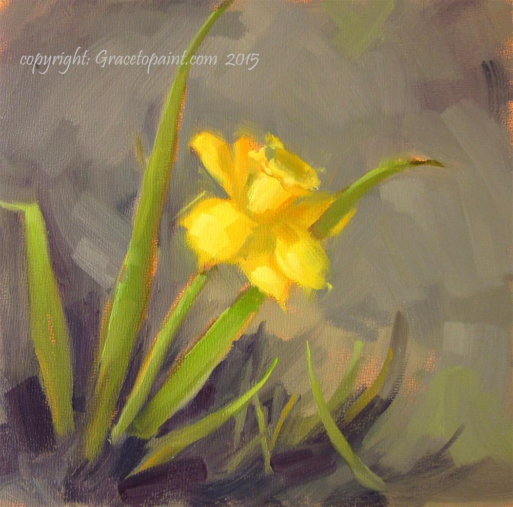 """Daffodil"" original fine art by Maresa Lilley"